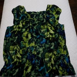 A.n.a Women's MultiColored Blouse Size XL
